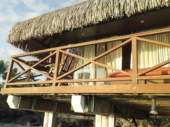 InterContinental Resort Tahiti: Rear view of our motu bungalow (#486), as seen from water below