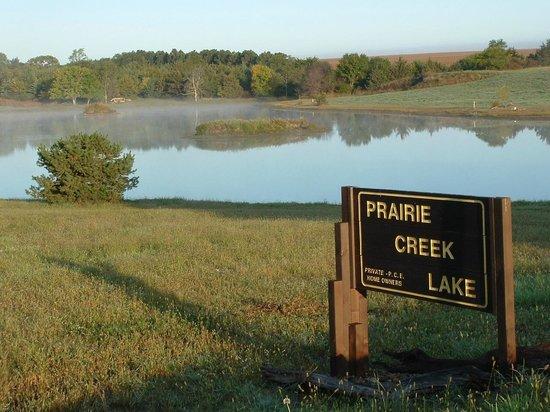 Prairie Creek Inn: Prairie Creek Lake, stocked, ready for our guests!
