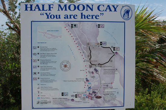 Half Moon Cay Map Map of Island   Picture of Little San Salvador Island (Half Moon  Half Moon Cay Map