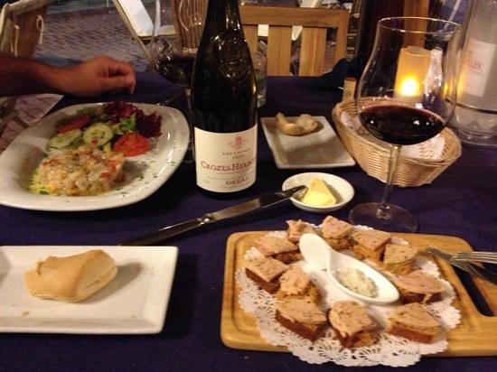 Le Bateau Ivre : grouper ceviche and foie gras on gingerbread
