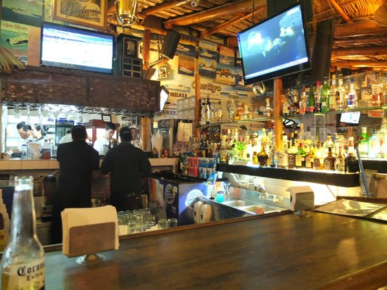 Baja Cantina: Main bar and t.v.s