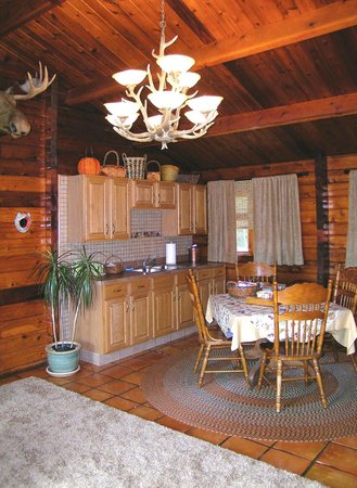 The Peaceable Kingdom B & B: The Cabin's Full Kitchen