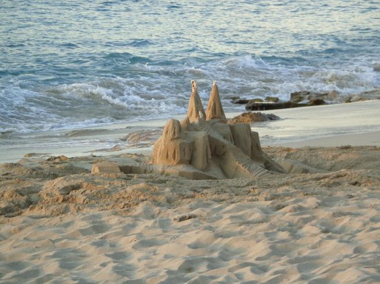 Sand Castle on the Beach: Bruno's handiwork of sandcastle building