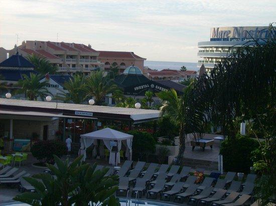 Aparthotel Parque de la Paz: view of the sea from room 245. 