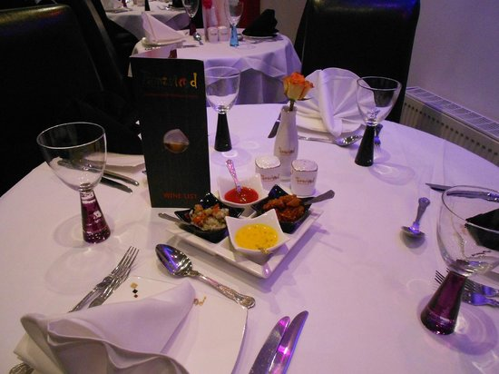 Tamarind Restaurant: Table Set for 4 People
