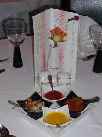 Tamarind Restaurant: Wine List and Fresh Flowers on Every Table