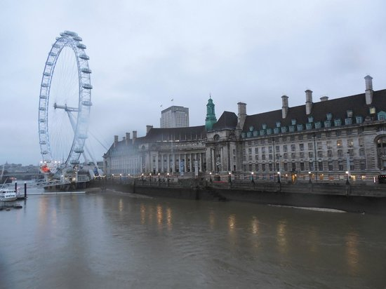 Premier Inn London County Hall Hotel: View from Westminster bridge