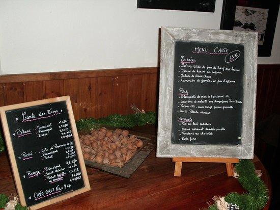 Hotel Mirtil: menun carte