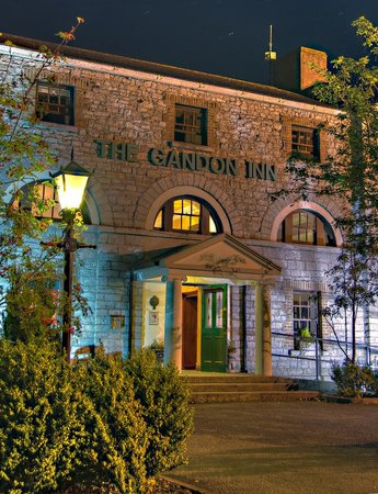 The Gandon Inn: Front of building at night by Terry Moran
