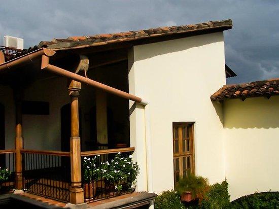 Hotel Patio del Malinche: Vista desde la segunda planta.