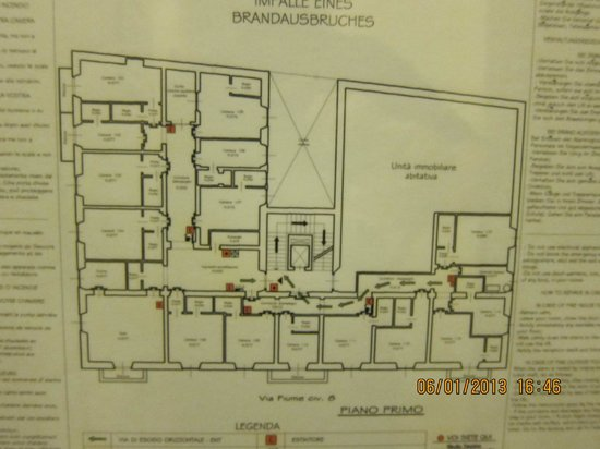 Lombardi Hotel: floor plan of the hotel