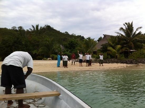 Navutu Stars Fiji Hotel & Resort: farewell