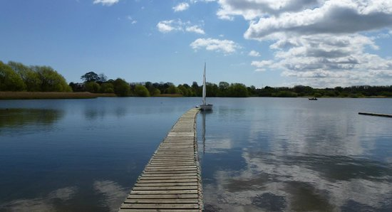 one of the boat jetty's, Hornsea Mere.