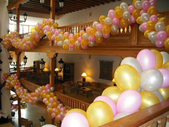 Seaside Los Jameos Playa: new year balloons