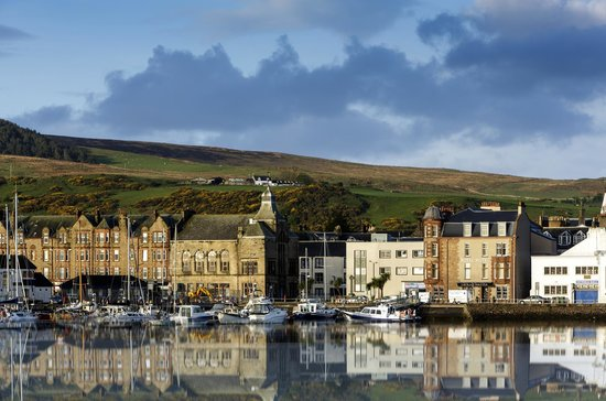 The Royal Hotel: The Royal across Campbeltown Harbour