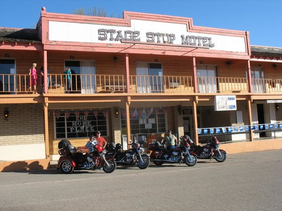 Stage Stop Inn: We like our bikes parked out front for easy access.