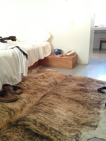 Thunderbird Hotel: Where can I get one of these brindle cowhide rugs?