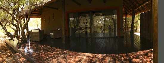 Naledi Bushcamp and Enkoveni Camp: enjoyed the veranda attached to our room