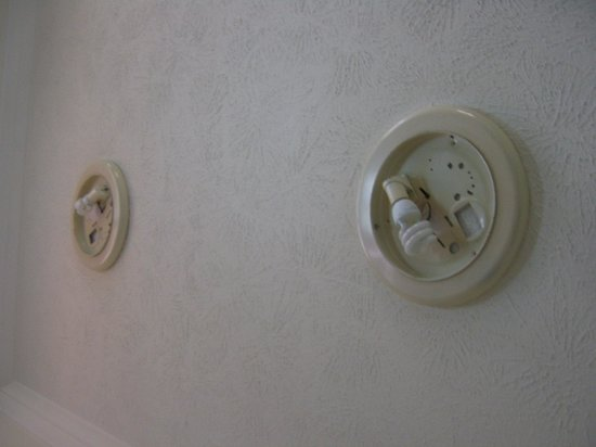City Park Apartments: The light fittings looked awful as they were open