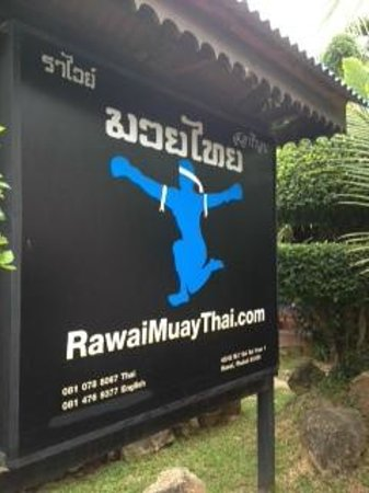 Phu NaNa Boutique Hotel: next door to rawai muay thai