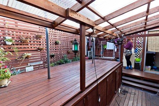The Koenji: The roof terrace/dining/hangout/laundry