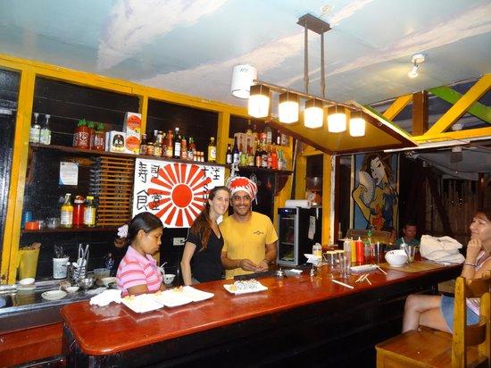 Raw Sushi + Martini Bar: Brit & Yeison.