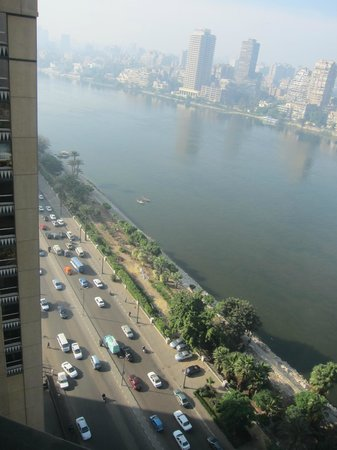 View from Fairmont Gold Club Room, Fairmont Nile City - Cairo