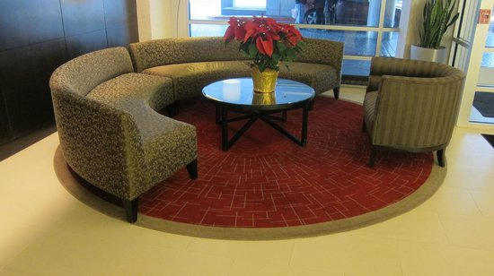 Hyatt Arlington: Beatiful sofa in the reception lobby