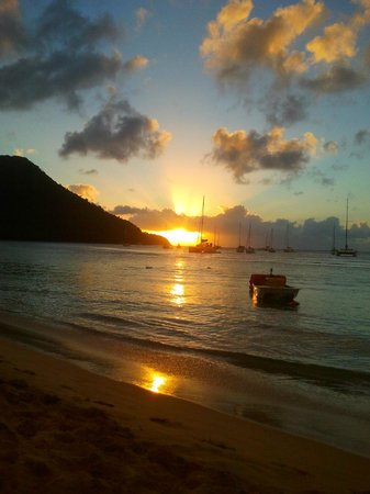 St. Lucian by Rex Resorts: beautiful sunset at reduit beach