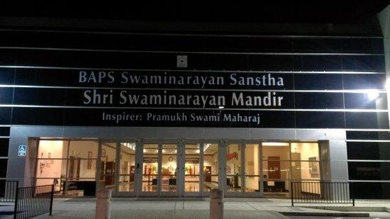 BAPS Shri Swaminarayan Mandir: Front of the BAPS Swaminarayan Hindu Mandir