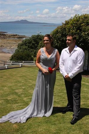 Torbay, Yeni Zelanda: Wedding on the front lawns