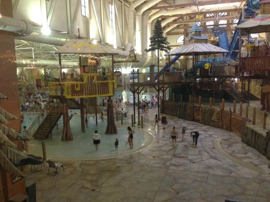Great Wolf Lodge: View of the waterpark