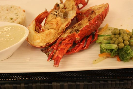 Hotel Bocas del Mar: Delicious, fresh (and affordable) lobster meal.
