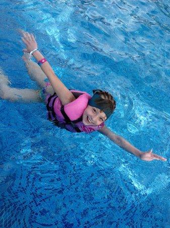 Nautibeach Condos: Enjoying the pool