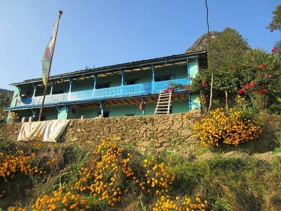 Shivapuri Nagarjun National Park : Typical Tamang house of Tarebir village