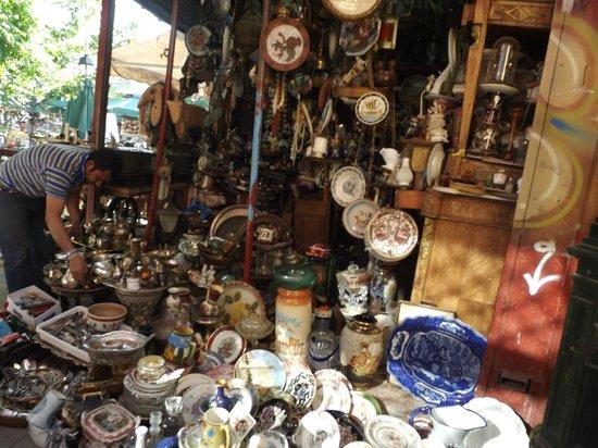 Monastiraki: A shop at the Sunday flea market