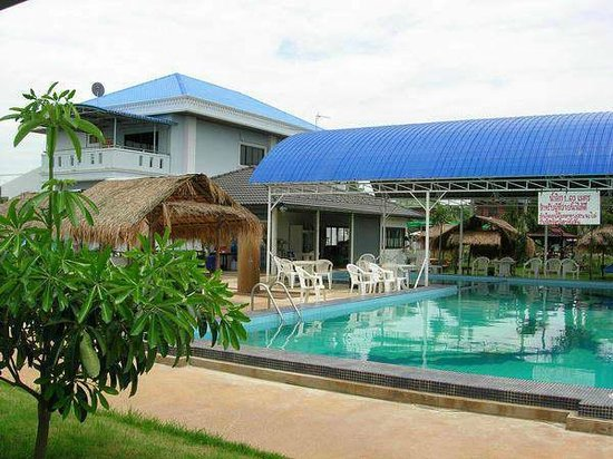 Roi Et Province, Thailand: Swimming under the roof. Phanomphrai Roi-et