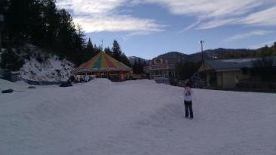Ruidoso Winter Park: Area for small children w/carnival rides in the background