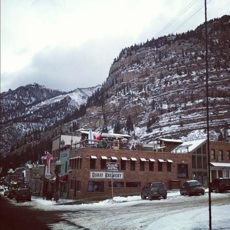ouray brewery surrounded by beautiful mountains