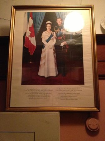 upon entering Arundel Mansion's you are greeted by her majesty and Prince Phillip