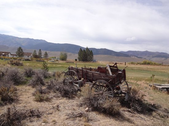 Hunewill Guest Ranch: Old wagon