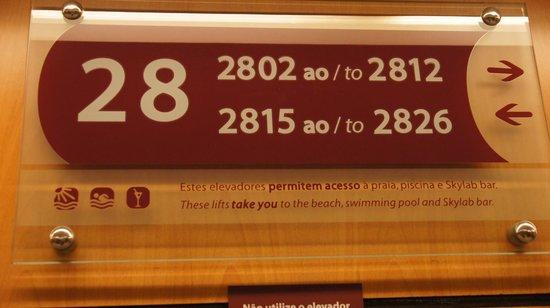 Rio Othon Palace Hotel: Stockwerkzimmer-Nummern