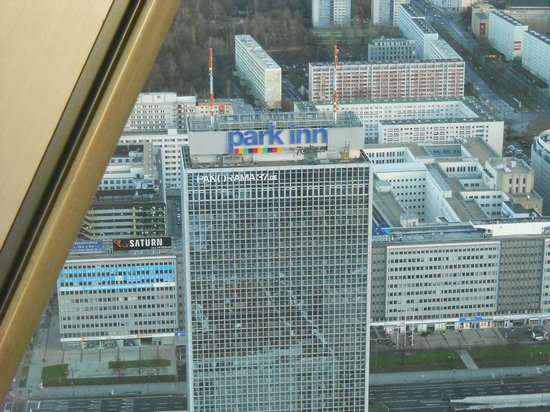 Park Inn by Radisson Berlin Alexanderplatz : View of hotel from the TV Tower