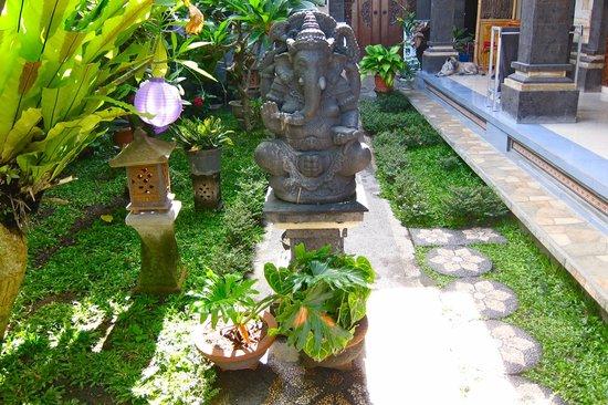 Jangkrik Homestay: Homestay garden