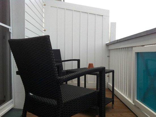 Pension Achtern Wieck: Balkon