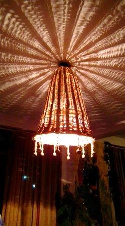 Sojourn Homes & Cottages: Hanging light made out of basket