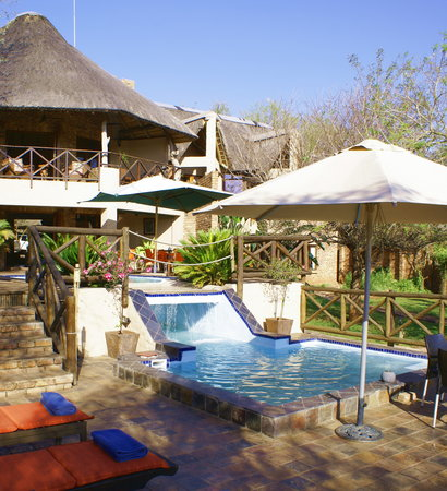 Crocodile Kruger Safari Lodge: Main lodge pool deck