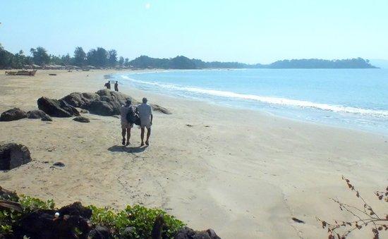 Big Fish La Raja: walked to patnem beach