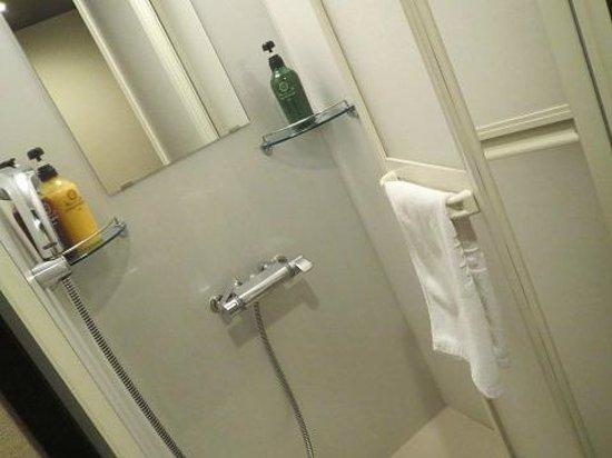 Dormy Inn Premium Kyoto Ekimae: 温泉が有るので、部屋にはシャワーブースのみ