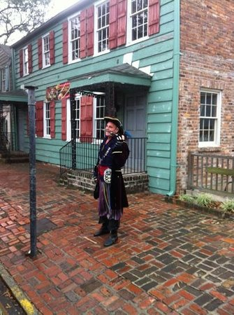 Staybridge Suites Savannah Historic District: we enjoyed the Pirate that stopped by!!